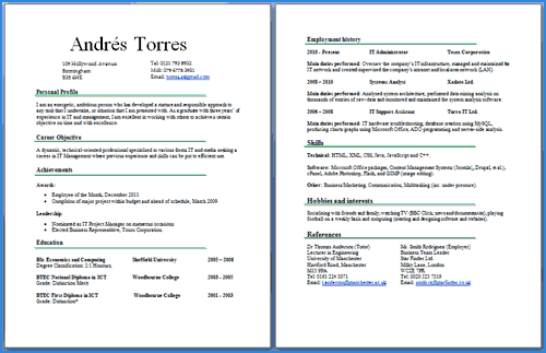 cv-two-pages-example2