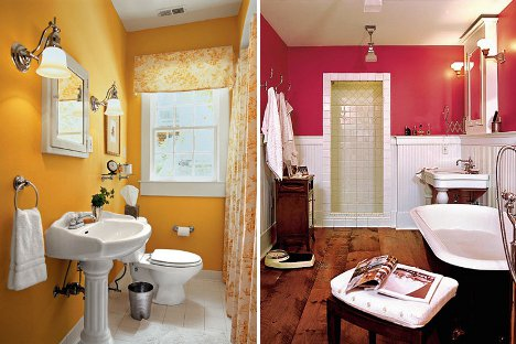 Amazing-Chic-And-Inspirational-Colorful-Bathroom-Ideas-In-Yellow-and-Pink-Bathroom-Color-