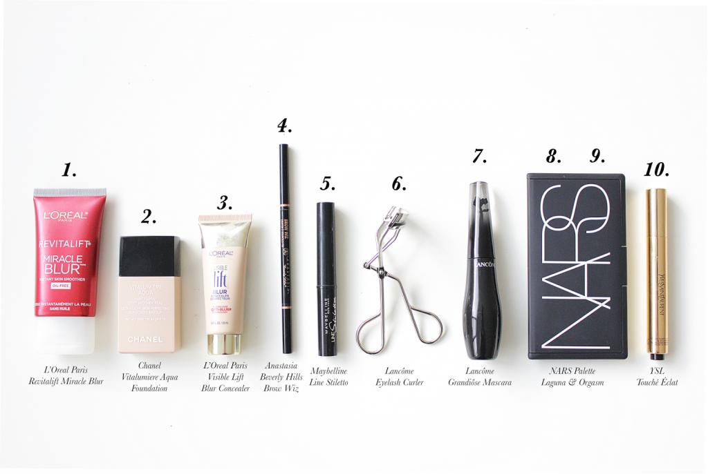 ten product makeup routine